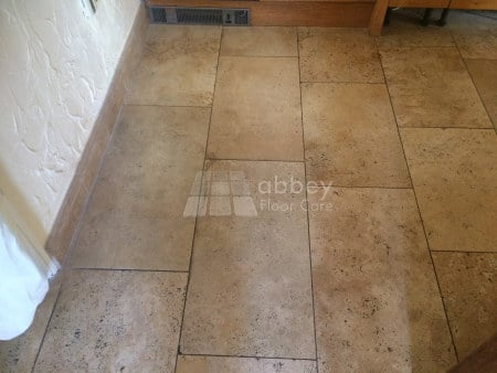 soiled travertine floor Selby North Yorkshire