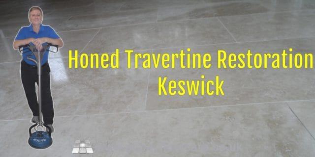 Honed Travertine Restoration Keswick Abbey Floor Care