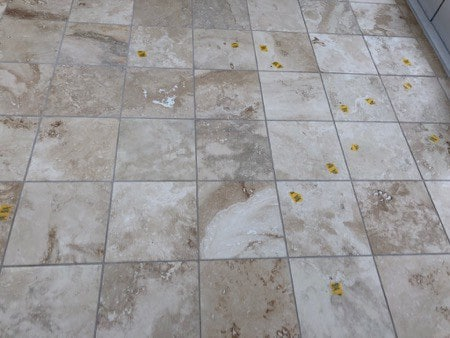 Grout Filling Holes In Travertine Tiles
