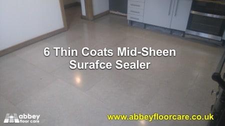 Sealing Limestone floor tiles Atherstone Warwickshire CV9