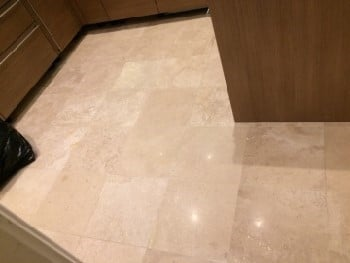 limestone floor polished and sealed