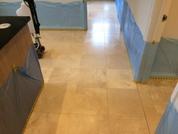 floor ready for limestone cleaning honing polishing sealing
