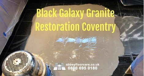 Restoring Black Granite Coventry Cv4 Abbey Floor Care