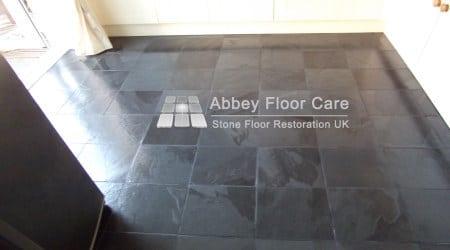 Slate Floor Cleaning Sealing Matlock Derbyshire De4