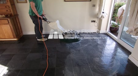 deep cleaning slate floor in matlock