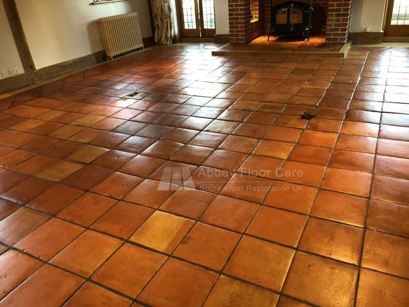 Terracotta Sealing Sevenoaks after three coats of sealer