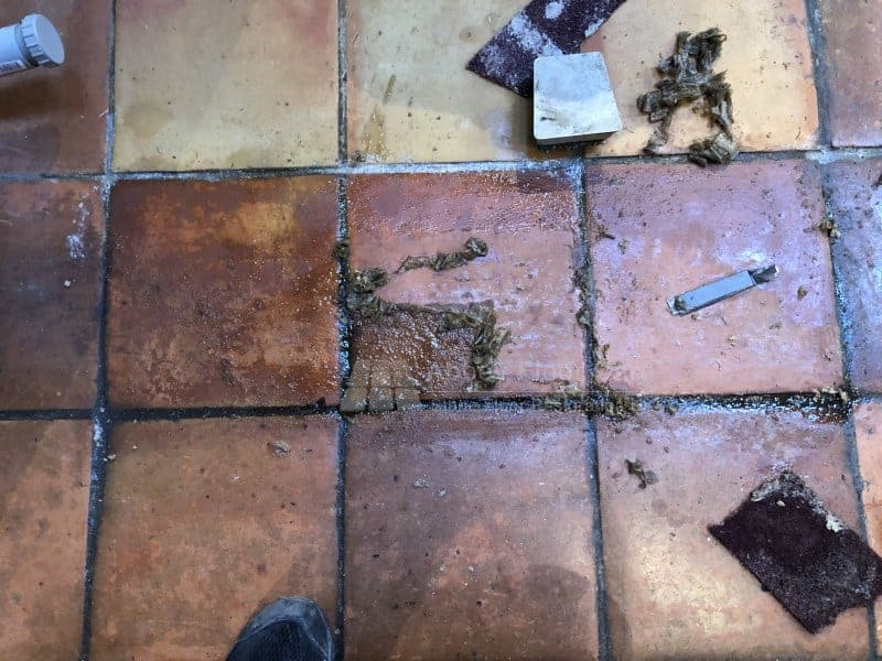 Testing Terracotta Sealer Removers - Abbey Floor Care