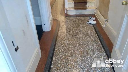 astounding polished terrazzo floor