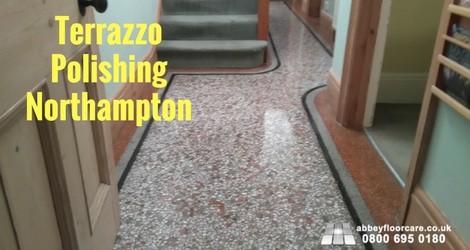 Terrazzo floor polishing northampton work