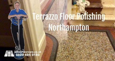 Polishing Terrazzo Floor In Northampton