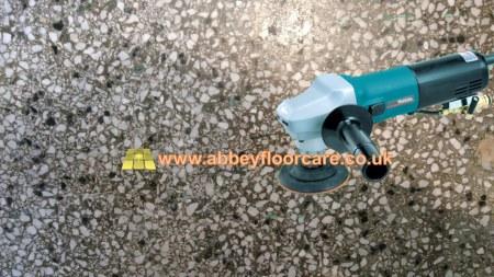 terrazzo hand grinding Abbey Floor Care