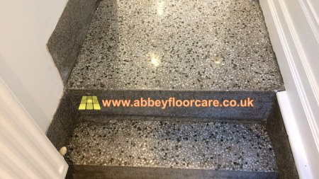 Terrazzo floor restoration work by Abbey Floor Care