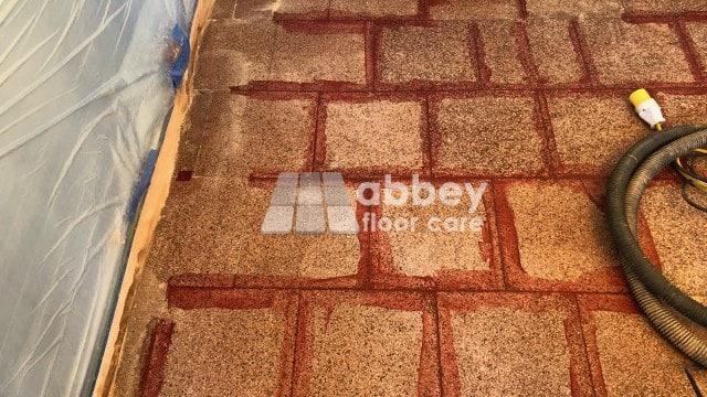Terrazzo Grouf Repair In Ironbridge Abbey Floor Care
