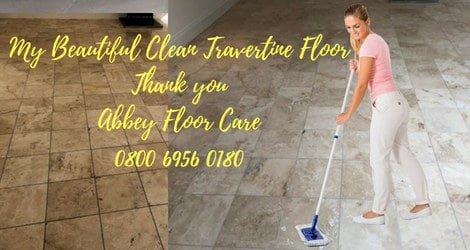 Travertine floor restoration blackheath london by abbey floor care