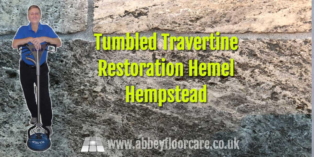 Tumbled Travertine Restoration Hemel Hempstead