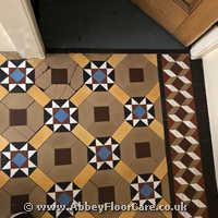Victorian Minton Tiles Cleaning Llarhystud