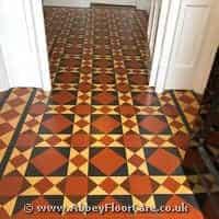 Victorian Minton Tiles Cleaning Trefnant