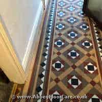 Victorian Minton Tiles Cleaning Longbenton
