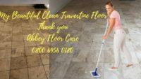 Travertine floor restoration blackheath london by abbey floor care
