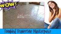 restoring tumbled travertine tiles in rhyl