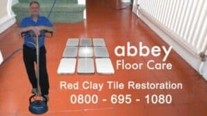 quarry tile cleaning Birmingham shows Abbey Floor Care cleaning quarry tiles Birmingham