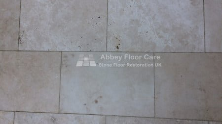 cleaning travertine tiles in Abbotts Bromley Staffordshire