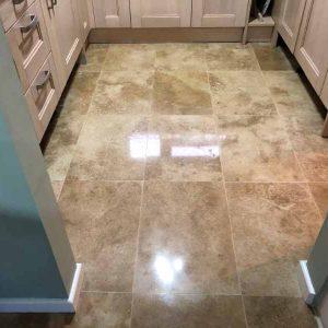 Travertine Tiles Polishing Service Gloucester Gl4 Abbey Floor Care
