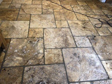 Tumbled-Travertine -Restoration-Abbey-Floor-Care