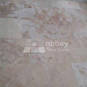 travertine-tile-floor-immediately-after-grinding