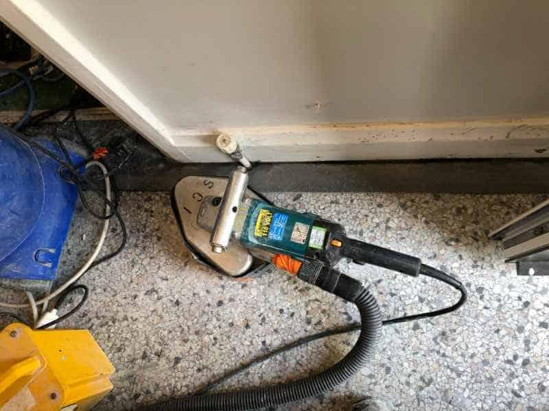 Grinding Edges Of Terrazzo Floors In Lickey Abbey Floor Care
