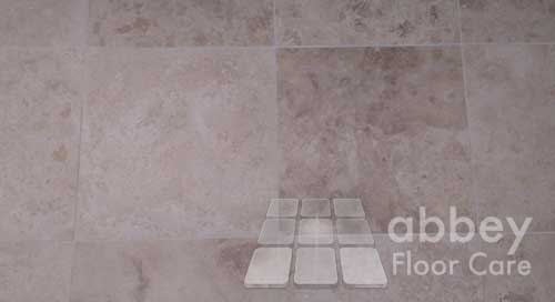 travertine looks clean when the holes are filled with grout