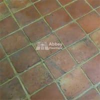 Handmade Terracotta Tile cleaned and sealed by Abbey Floor Care