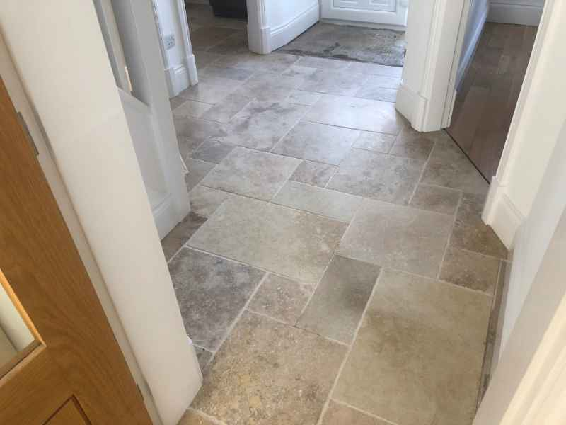 Limestone After Cleaning And Sealing In Thurnby By Abbey Floor Care
