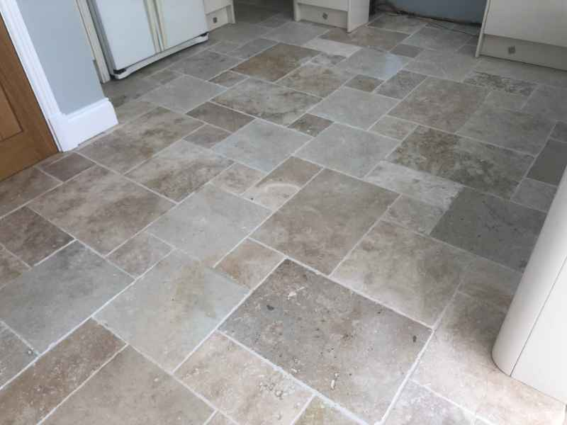 Limestone After Cleaning In Thurnby By Abbey Floor Care