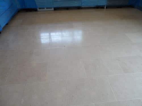 limestone floor before restoration