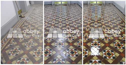 image for victorian tile cleaning - minton tile cleaning