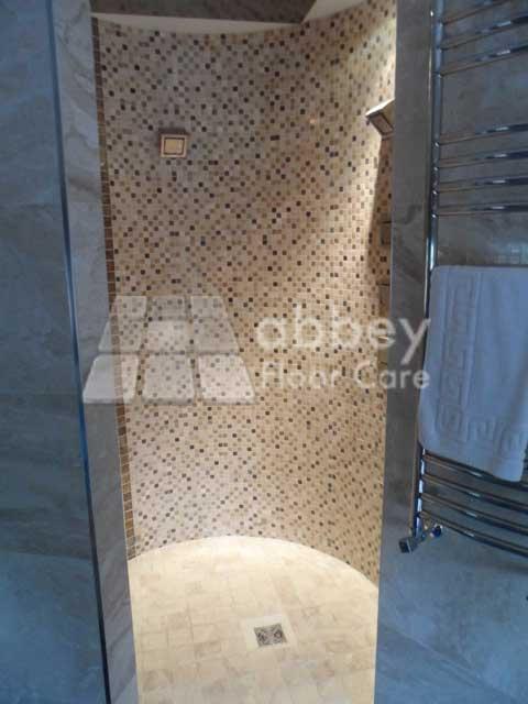 marble shower wall polishing