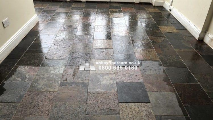 Sealing Slate Floor In Barnes Abbey Floor Care 00020