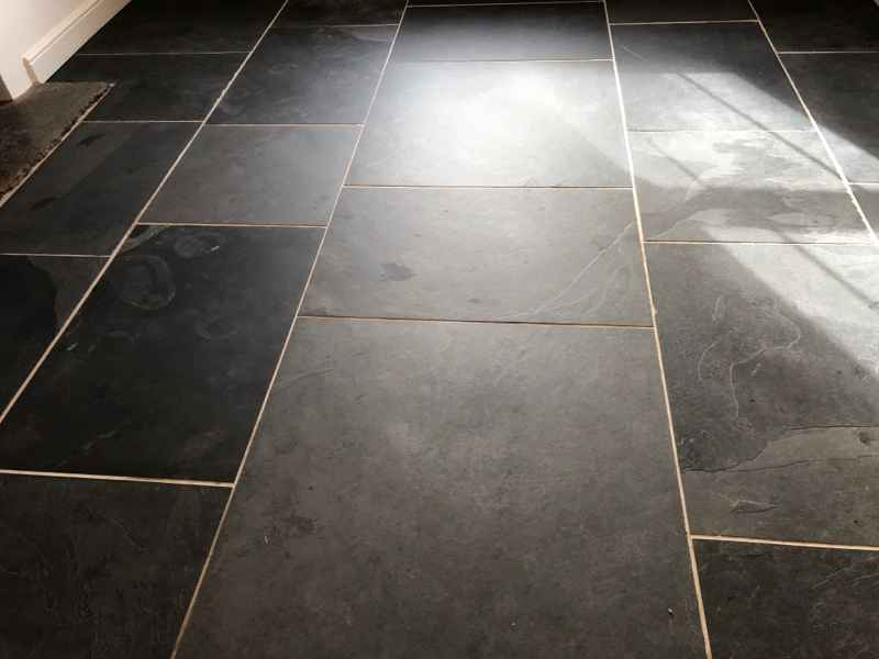 Slate Floor In Priddy Somerset After Cleaning Abbey Floor Care