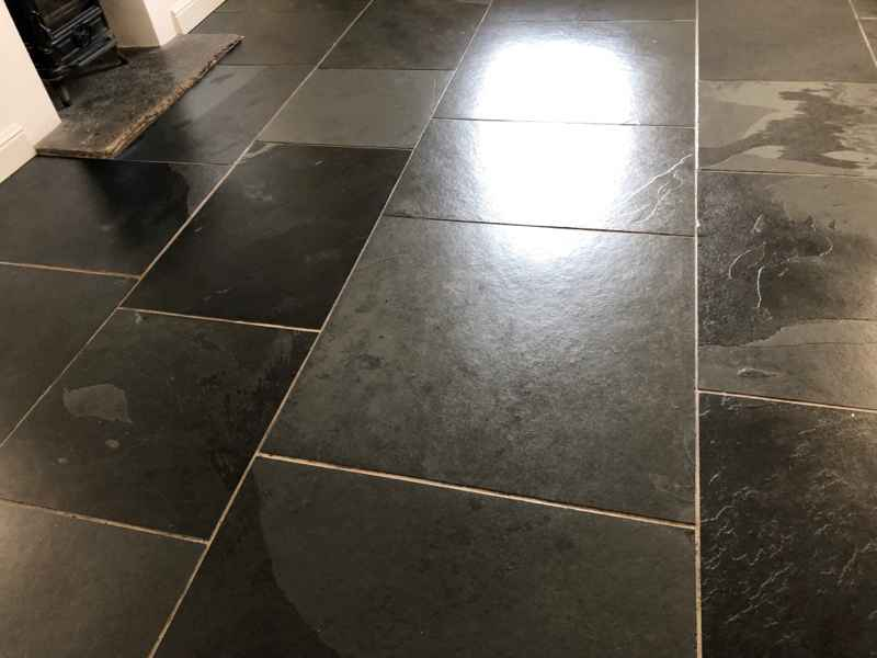 Slate Floor In Priddy Somerset After Sealing Abbey Floor Care