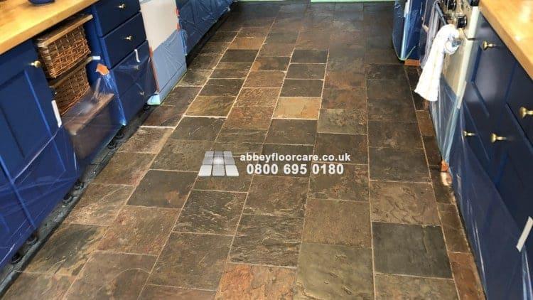 Slate Floor Tiles Restoration Barnes Abbey Floor Care 00007