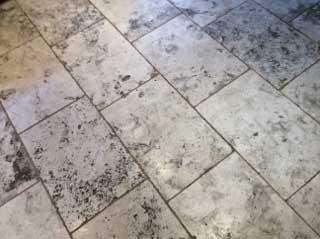 stone floor cleaning dirty floor