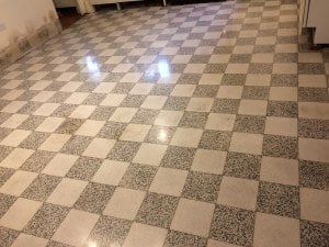 polished terrazzo floor in much wenlock displaying a beautiful deep shine