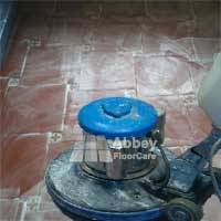 Stripping Terracotta tiles by Abbey Floor Care