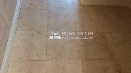 soiled travertine tiles in newark