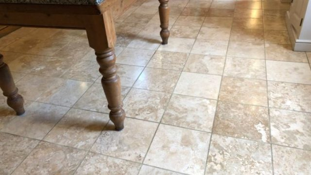Travertine Floor In Haslingden Rossendale Lancashire After Restoration Abbey Floor Care