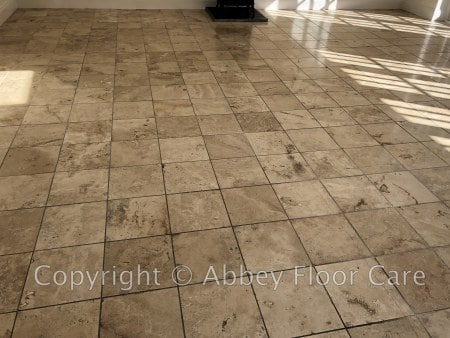 travertine cleaning blackheath london - abbey floor care