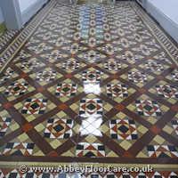 Victorian Minton Tiles Cleaning Birmingham